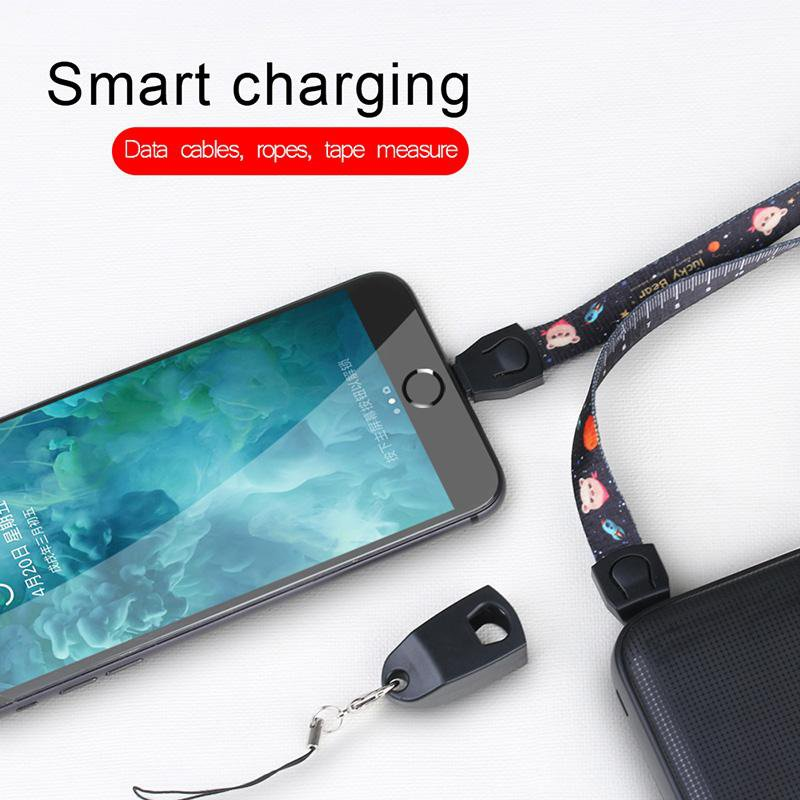 Portable USB Cable Fast Charging Charger USB-C Cord Micro USB Type C Cable For iPhone/HUAWEI/SAMSUNG