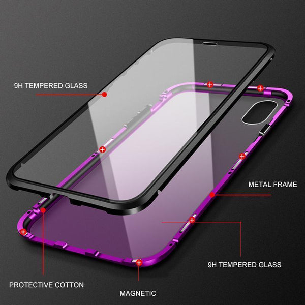 Magnetic Adsorption Case For iPhone X XS Max 8 7 Luxury