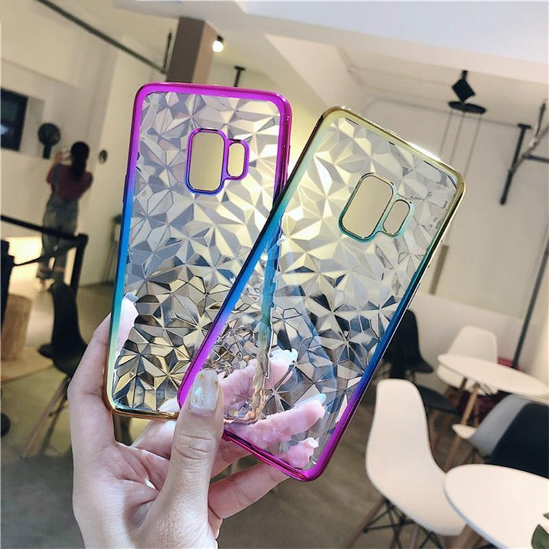 Dual Color crystal gradient Case For Samsung Galaxy S8/S8 Plus/S9/s9 Plus/Note8/Note9