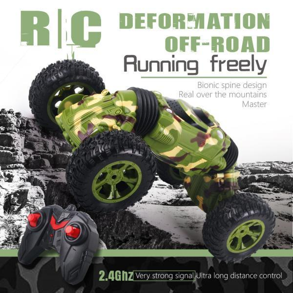 Double Side 2.4GHz One Key Deformation Climbing Car Remote Control Vehicle Off Road RC Car High Speed Four Wheel Drive