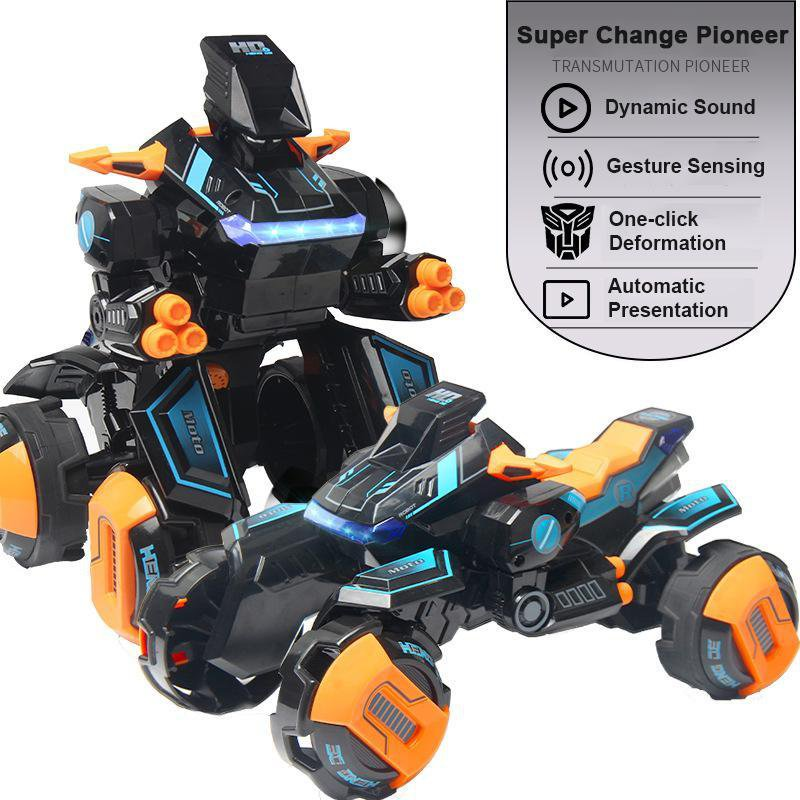 Gesture-inductive Radio Remote Control 2.4G Stunt Car One-button Deformation RC Car Transformers Boy Electric Drift Car