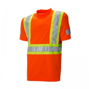 Orange Short Sleeve Traffic Shirt