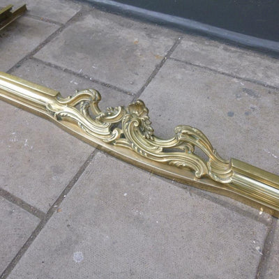Antique Brass Fireplace Fender