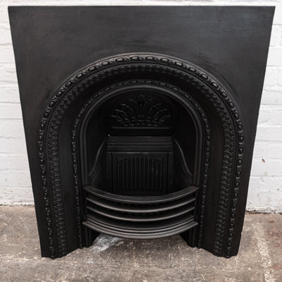 Antique Reclaimed Victorian Cast Iron Arched Insert