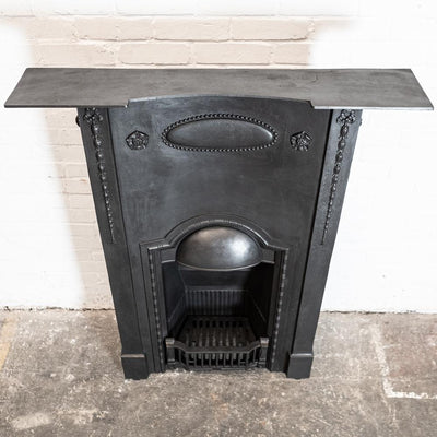 Antique Edwardian Cast Iron Combination Fireplace