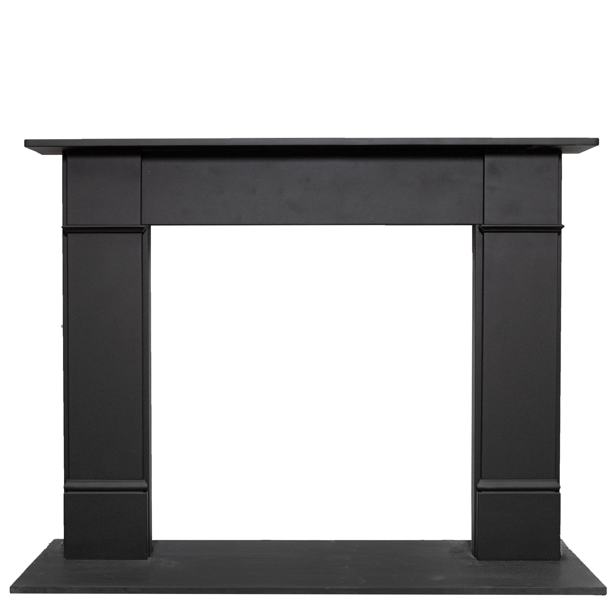 Late Georgian | Early Victorian Style Black Slate Chimneypiece