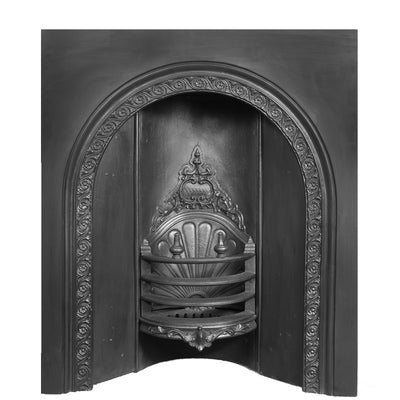 Antique Early Victorian Cast Iron Insert - antique-fireplaces