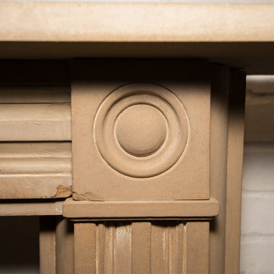 Antique Georgian Sandstone Bullseye Fireplace Surround - The Architectural Forum