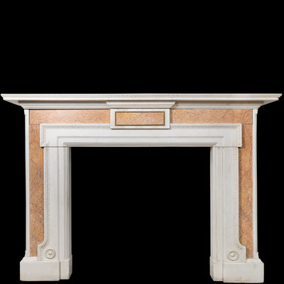 Antique Brocatelle Marble Fireplace Surround - The Architectural Forum