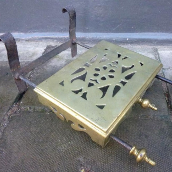 Antique Brass Fireside Pot Warmer