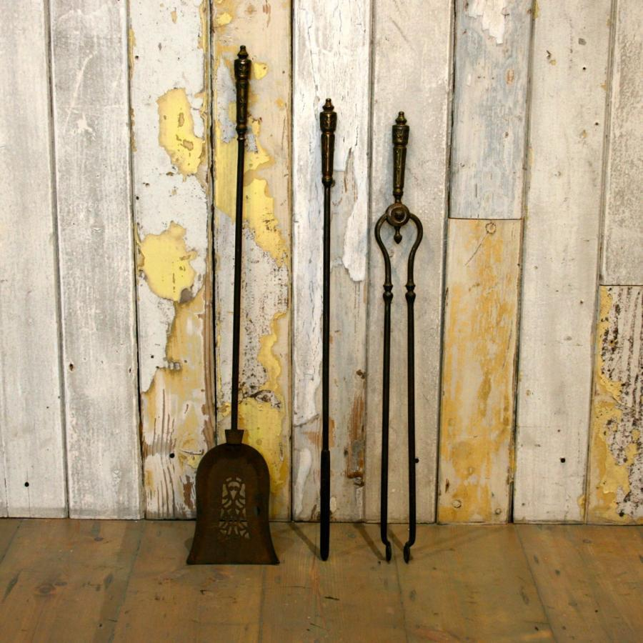 Antique Iron Fireplace Companion Set