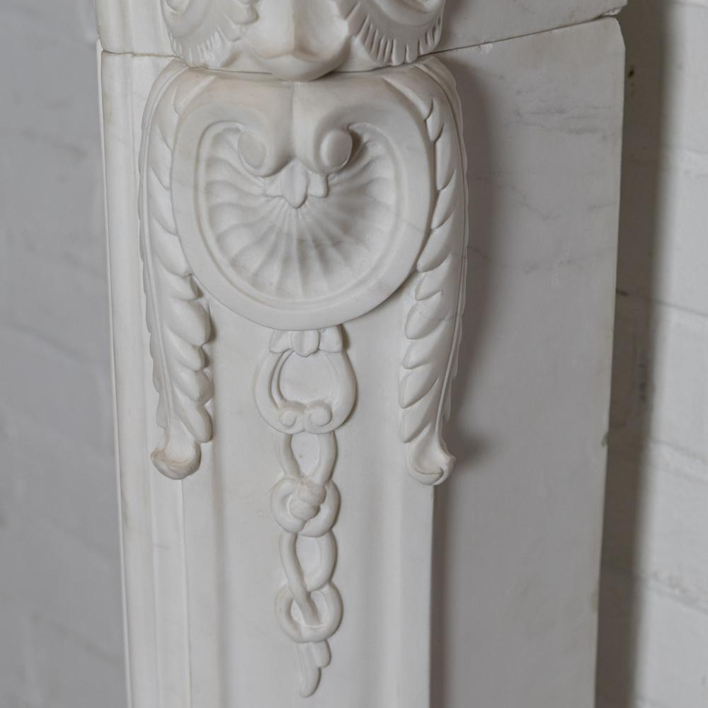 Rococo Style Navarre Statuary Marble Chimneypiece (pair available)