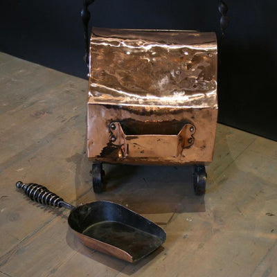 Antique Copper Coal Scuttle - The Architectural Forum