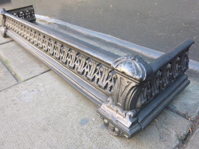 Antique Victorian Cast Iron Fireplace Fender - The Architectural Forum