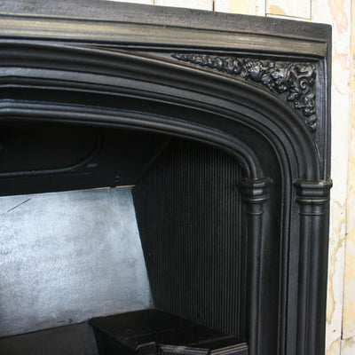 Antique Gothic Revival Cast Iron Fireplace Insert - The Architectural Forum