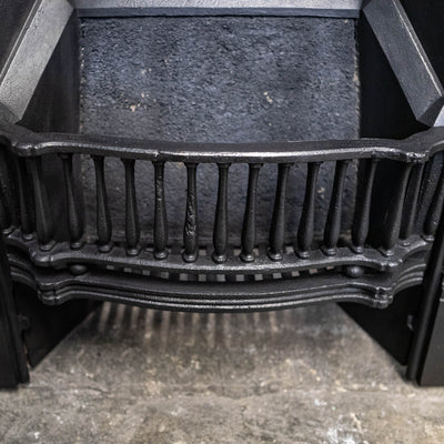 Antique Mirrored Cast Iron Combination Fireplace