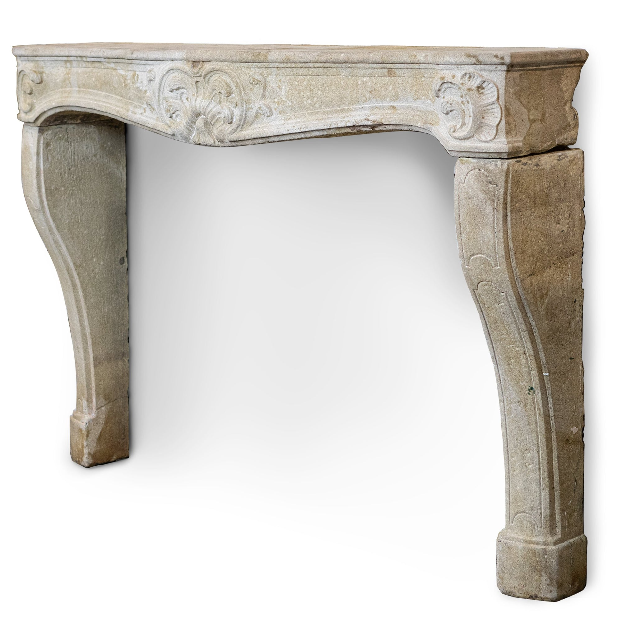 Spectacular Antique 19th Century Stone Fireplace Surround Louis XV