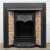 Antique Victorian Tiled Cast Iron Fireplace Insert