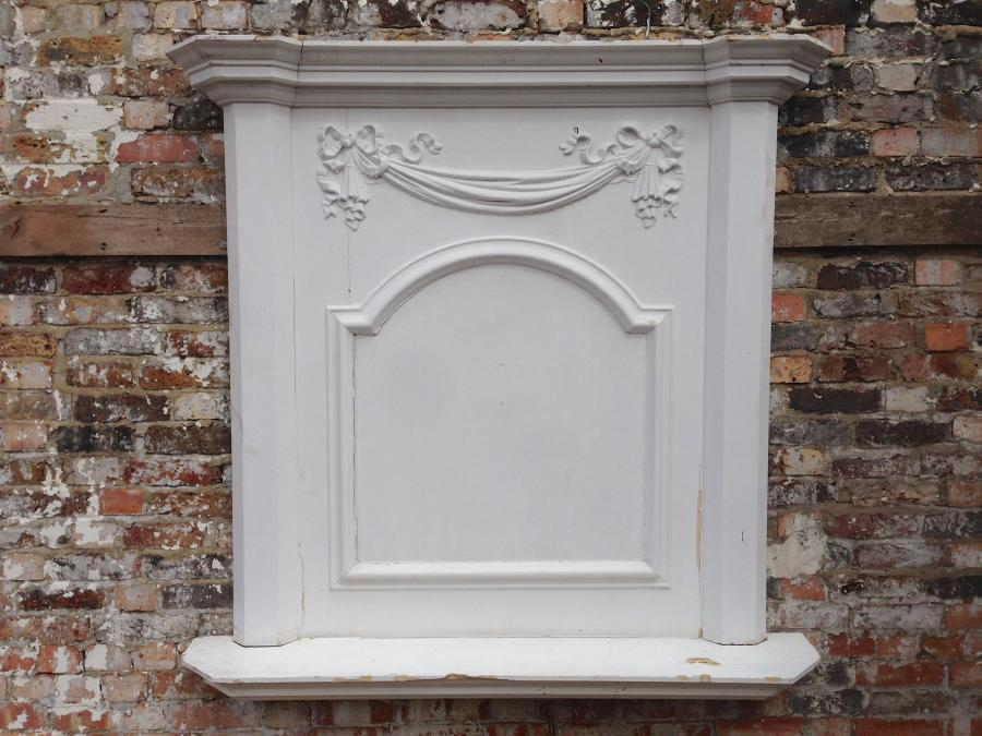 Antique Regency Fireplace Overmantle
