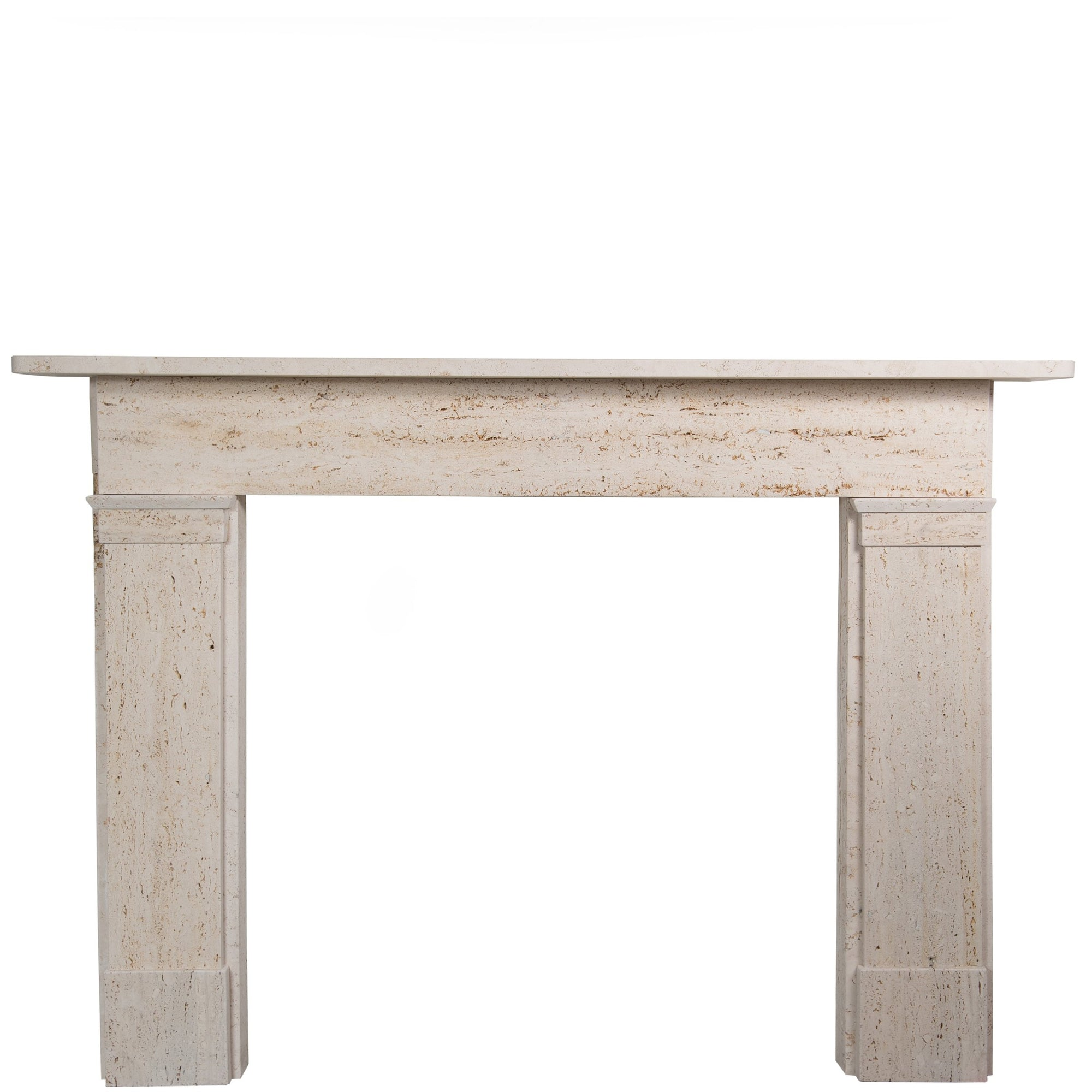 Georgian/Victorian Style Travertine Marble Fireplace Surround