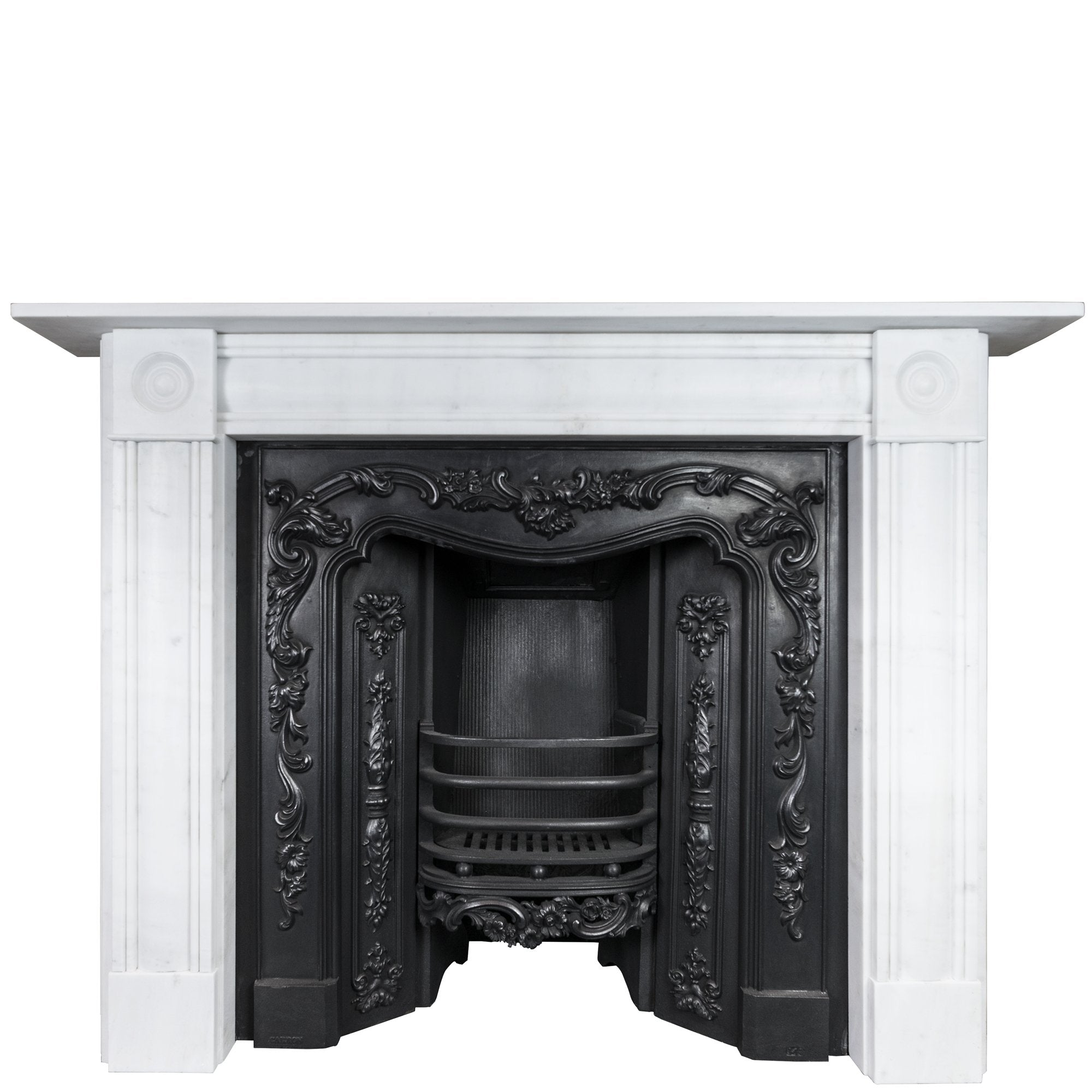 Georgian Style Statuary Marble Fireplace Surround