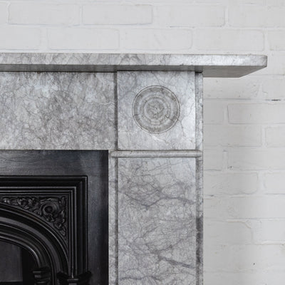 Georgian Style Bullseye Marble Fireplace Surround