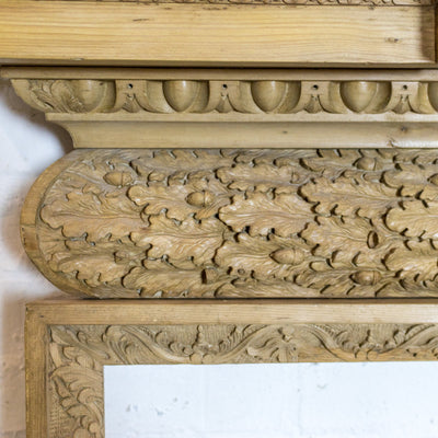 Antique Georgian Carved Pine Chimneypiece