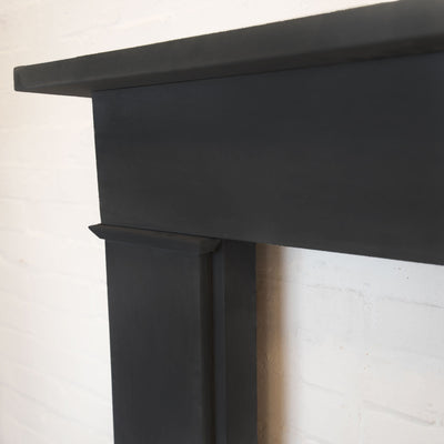 Late Georgian/Victorian Style Black Slate Fireplace Surround