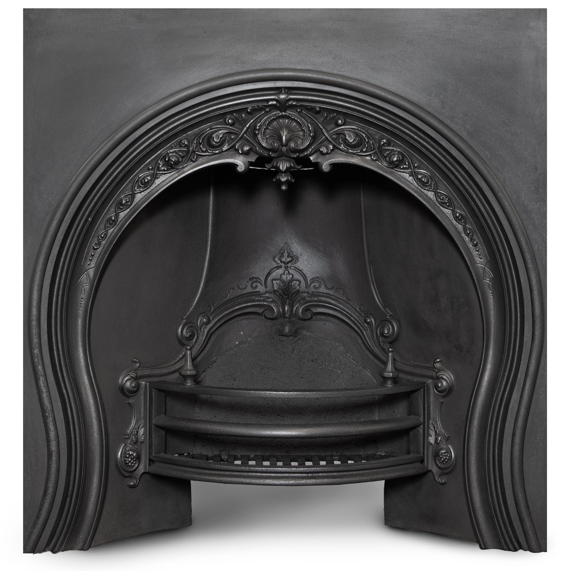 Antique Victorian Cast Iron Horseshoe Fireplace Insert