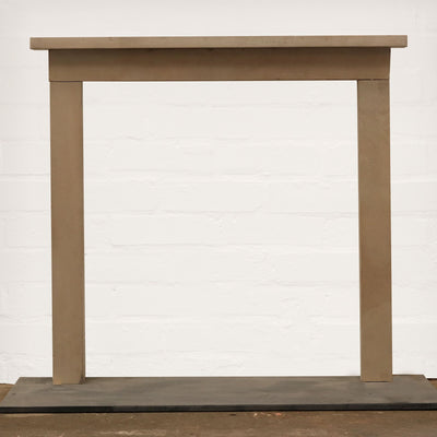 A late 18th Century Yorkstone fireplace surround