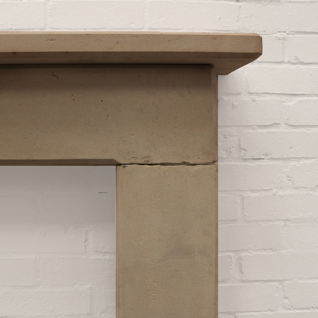 Antique Late 18th Century Limestone Fireplace Surround