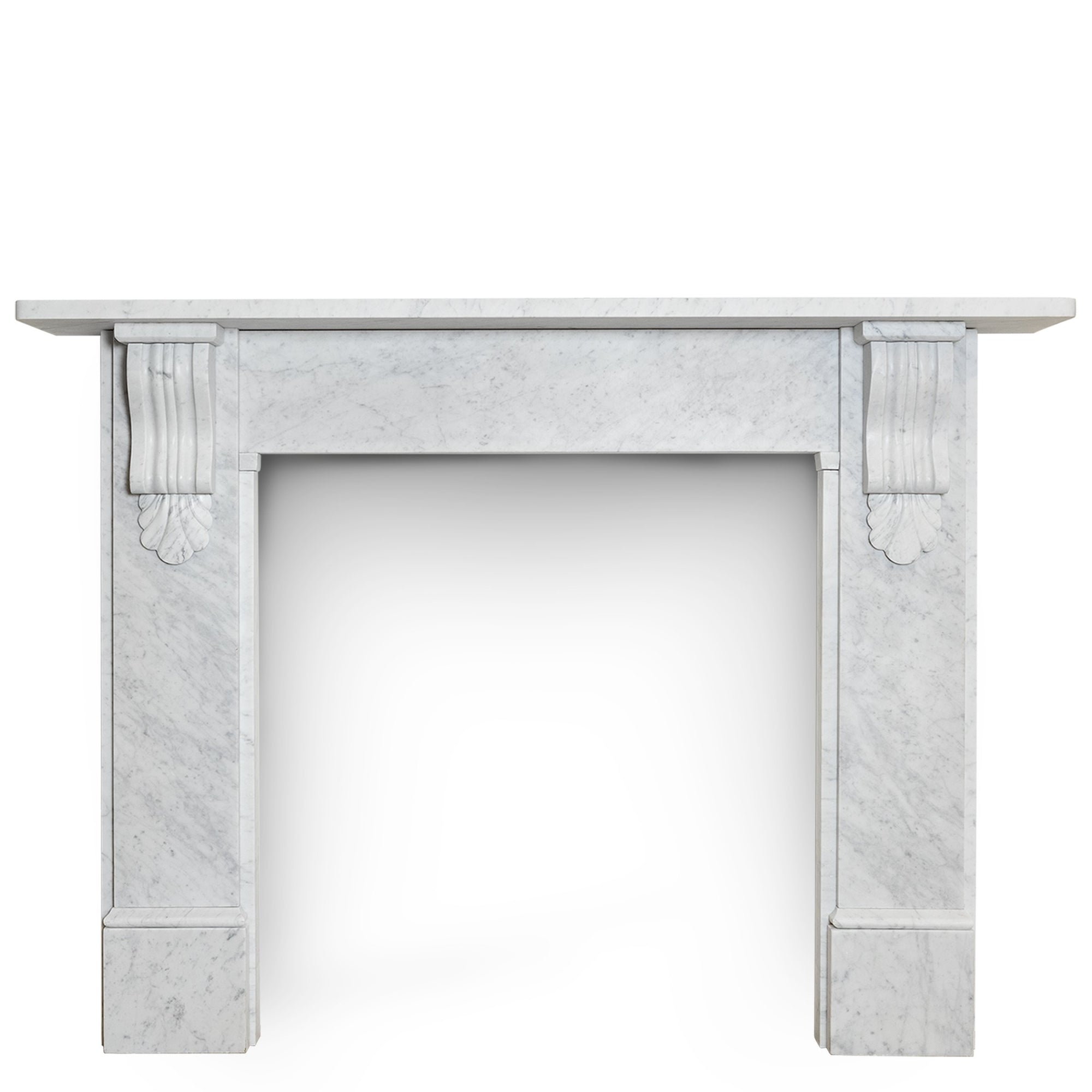 Bespoke Victorian Style Carrara Marble Fireplace Surround with Corbels