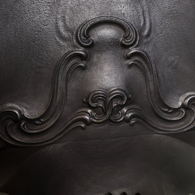 Antique Rococo Cast Iron Horseshoe Insert