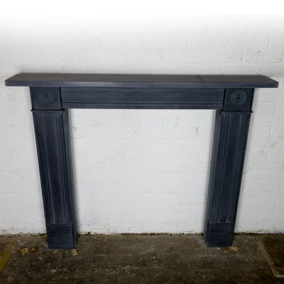 Georgian Style Slate Bullseye Fireplace
