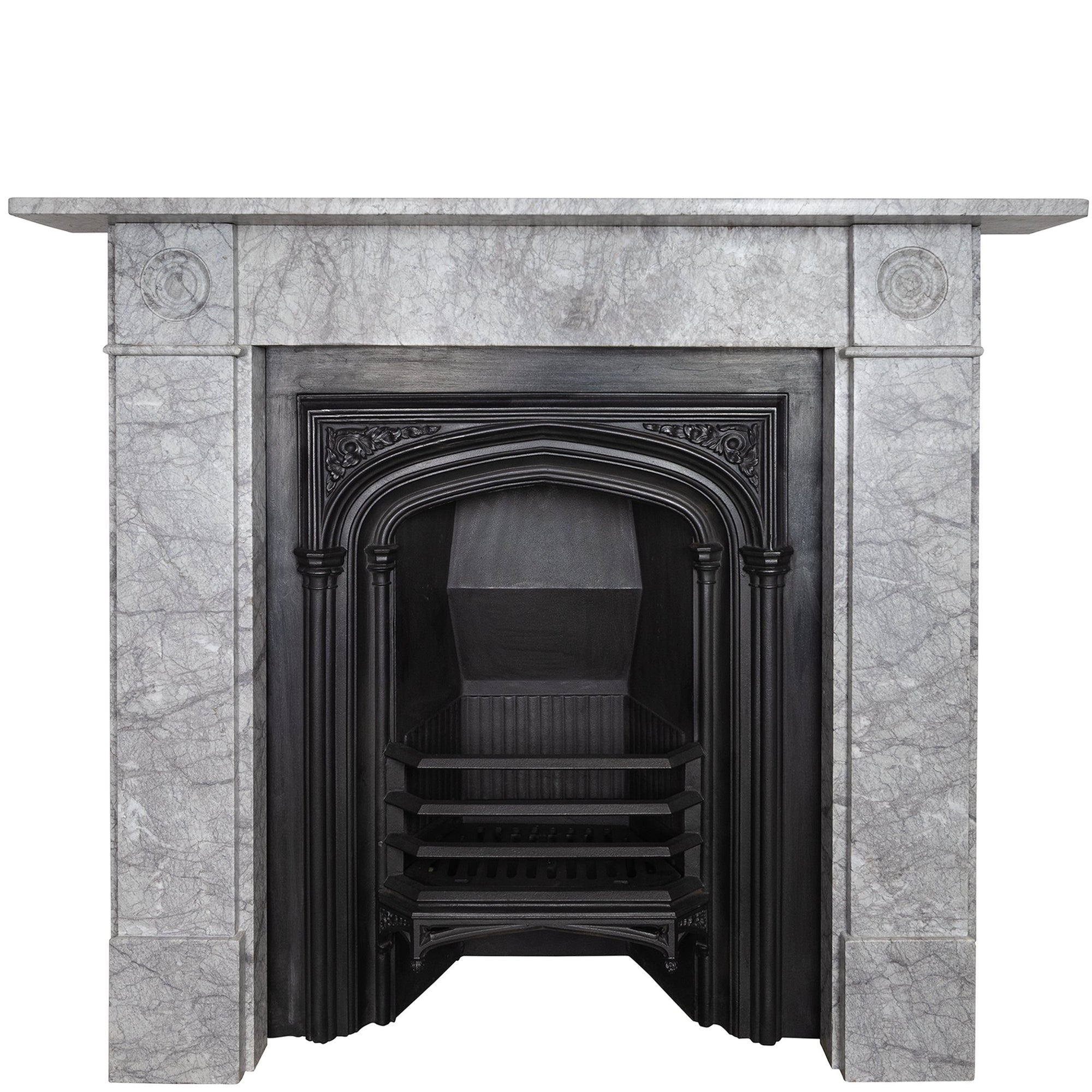 Georgian Style Bullseye Marble Fireplace Surround Antique Fireplaces London