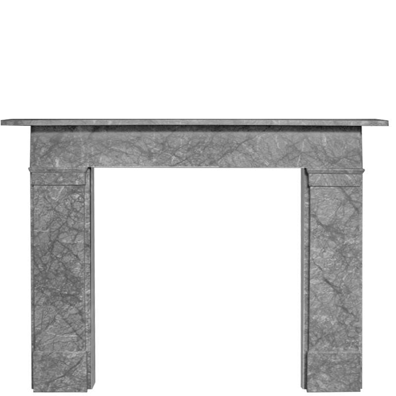 Victorian Style Grey Marble Fireplace Surround