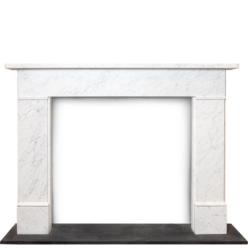 Early Victorian, Late Georgian Style Carrara Marble Fire Surround