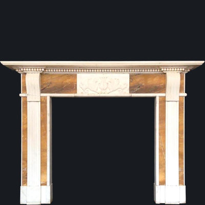 Georgian Style Statuary & Sienna Marble Fireplace Surround