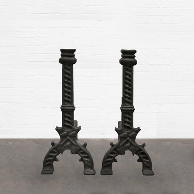 Antique Cast Iron Firedogs