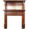 Mahogany Fire surround with Overmantel