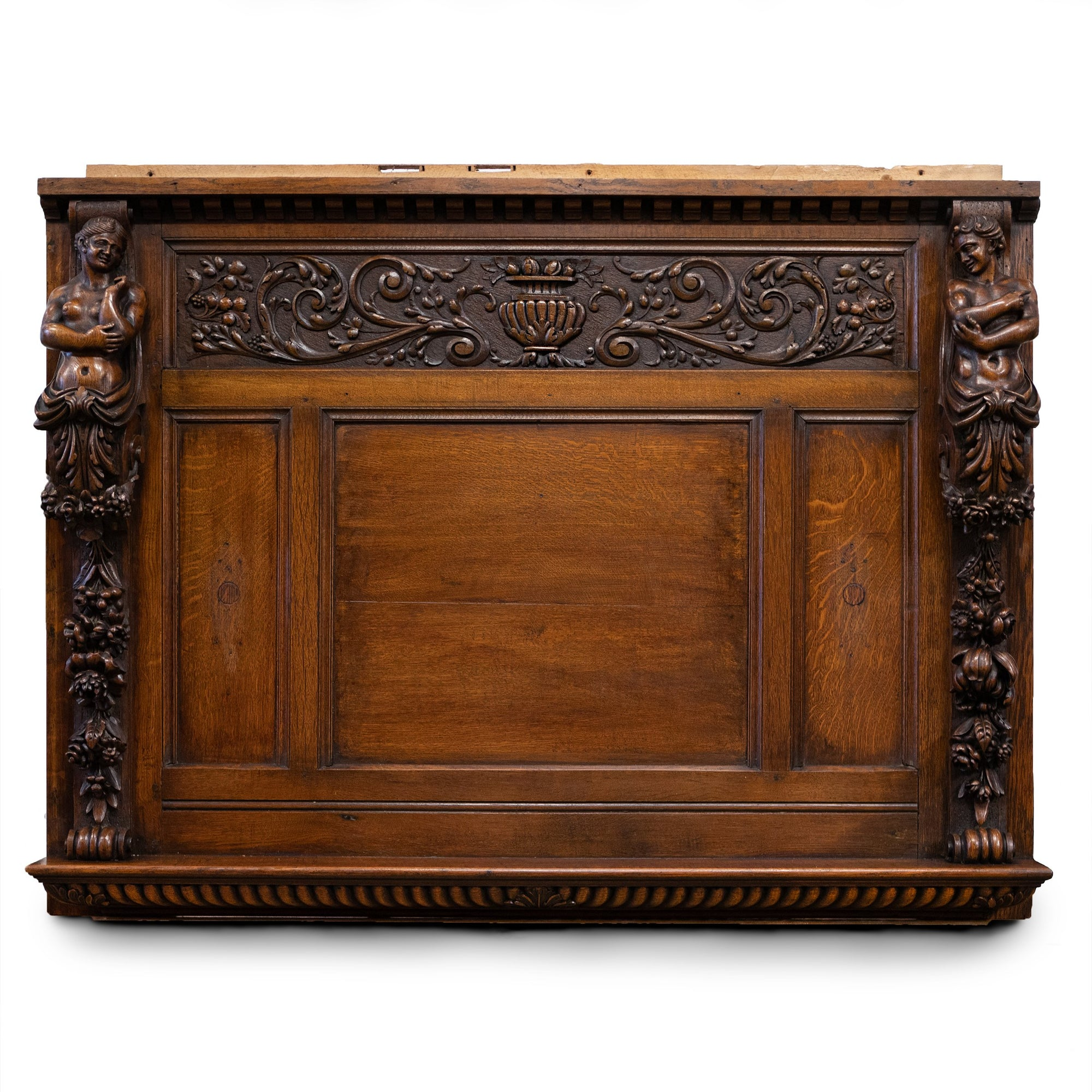 Antique Heavily Carved Oak Wooden Element | Overmantle | The Architectural Forum