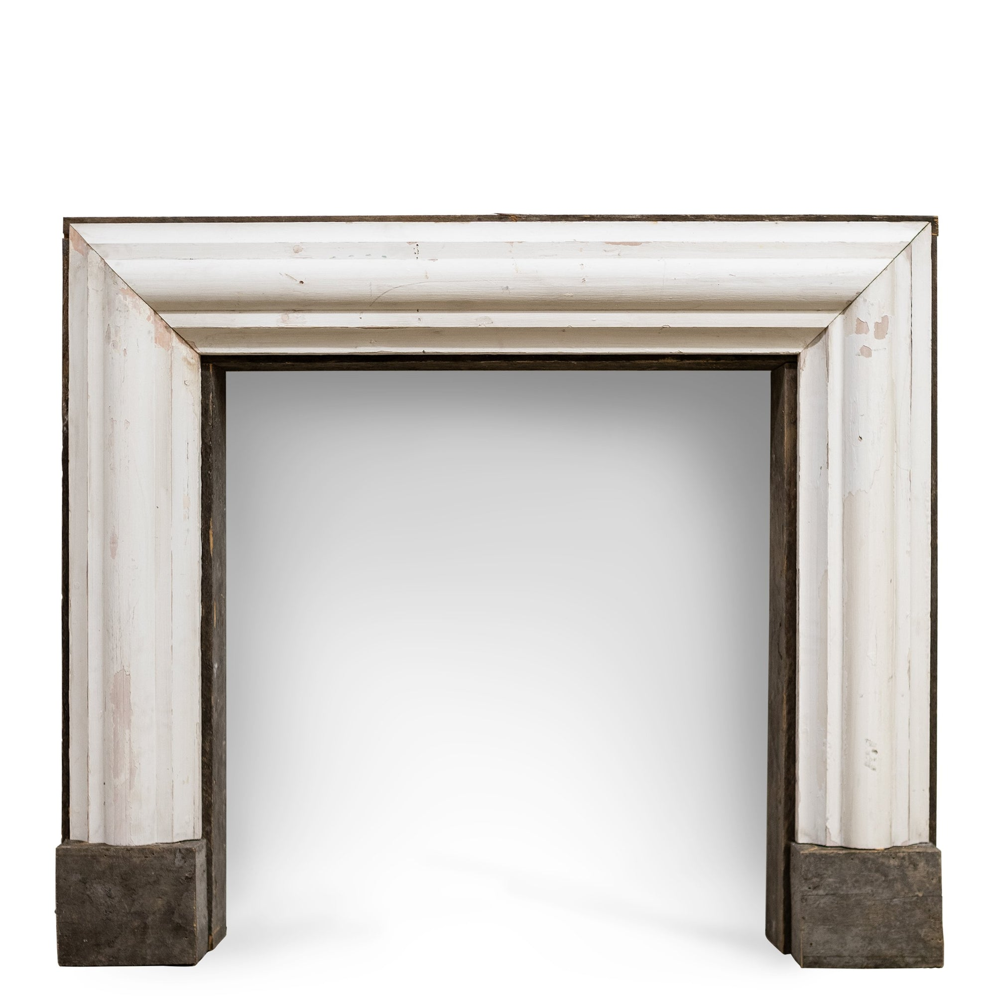 Bolection Fireplace Surround Crafted from Reclaimed Timber