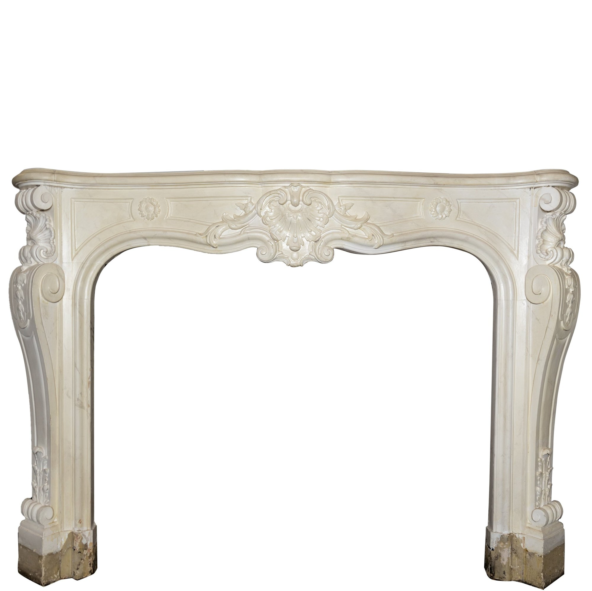 Antique Victorian Louis Style Wooden Fireplace Surround