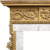 Antique Georgian Carved Pine Fireplace Surround