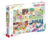 Clementoni Puzzle 4-In-1A Beautiful Day 2X20/2X60 Teile