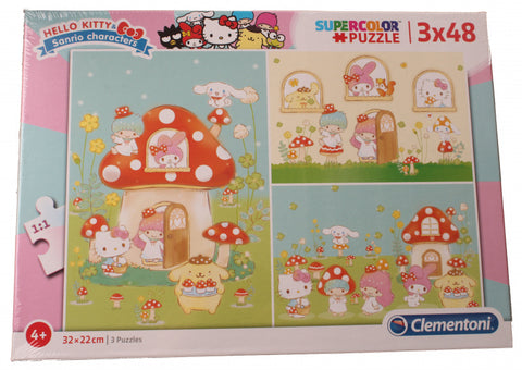 Clementoni Puzzlespiel Supercolor Hello Kitty 3 X 48 Teile