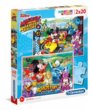 Clementoni Puzzle Mickey And The Roadsters 20 Teile 2 Teile