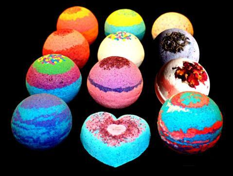 Bath Bomb - Round - Large - 18 Styles - PURE