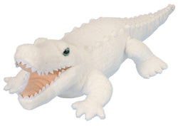 White Alligator Stuffed Animal - 12""