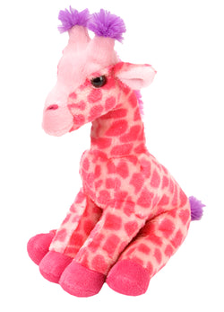 Pink Sitting Giraffe Stuffed Animal - 12